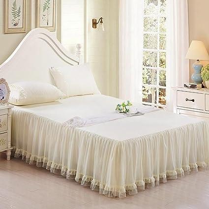 Amazon Com Berteri Beautiful Princess Lace Bed Skirts Twin Full