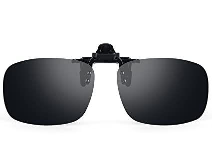 82813b8975356 Image Unavailable. Image not available for. Color  Costyle Black Gray  Myopia Retro Polarized Clip-on Flip-up Plastic Sunglasses Driving Fishing