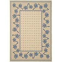 Safavieh Courtyard Collection CY5148F Ivory and Blue Indoor/ Outdoor Area Rug (4 x 57)
