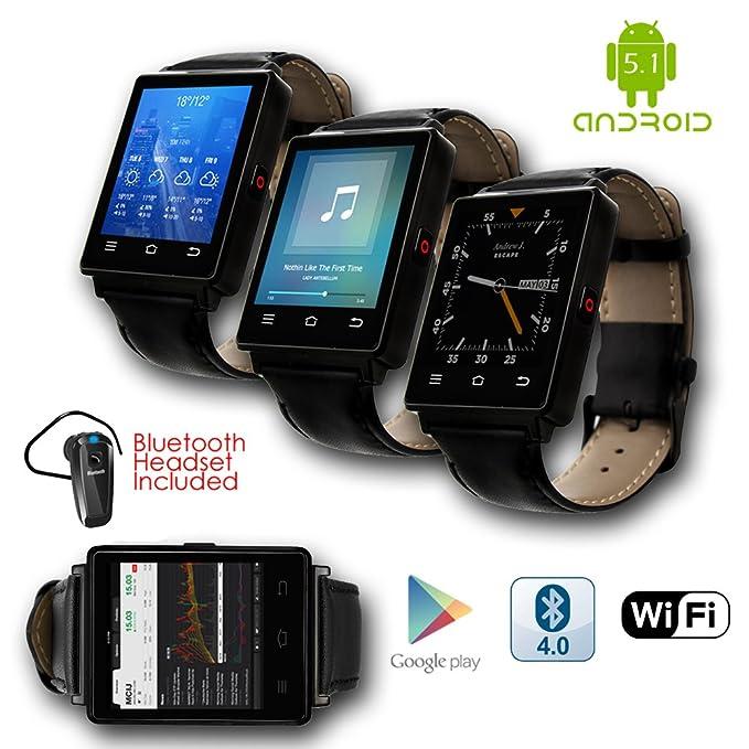 Indigi® organizar Smartwatch teléfono 3 G GSM desbloqueado ...