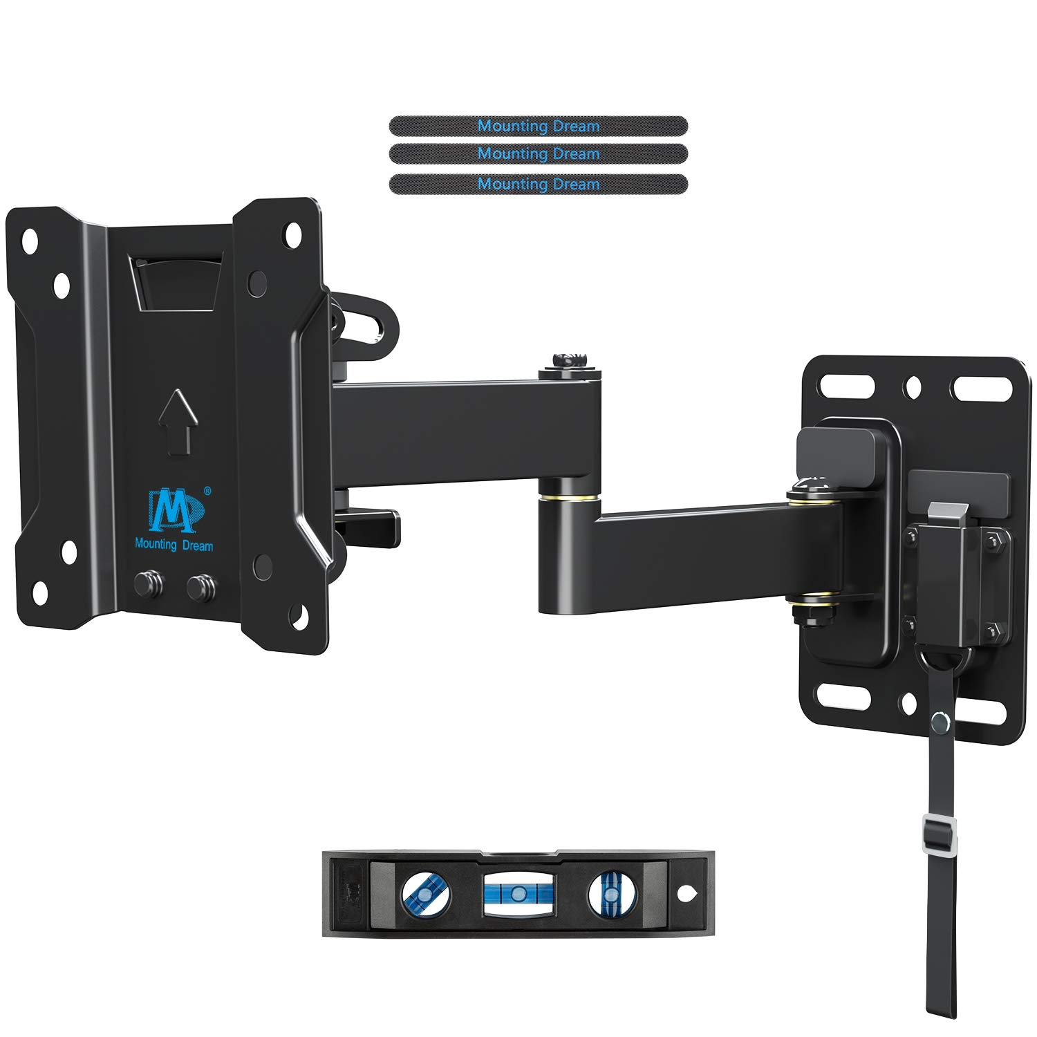 TV Mount Lockable RV TV Mount for 10-26 Inch Flat Screen TV, RV Mount for Camper Marine Boat Trailer, Easy One Step Lock Full Motion RV TV Wall Mount up to VESA 100x100mm, 22 LBS Mounting Dream MD2209 by Mounting Dream