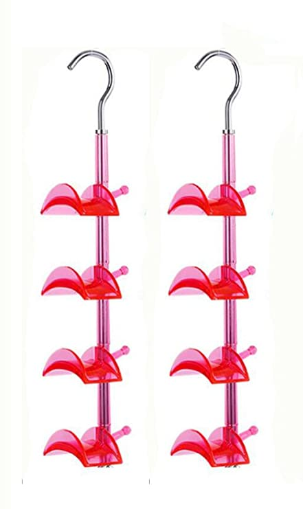 Louise Maelys 4 Packs 360 Degree Rotating Bags Ties Belts Scarf Hanger Rack 4 Hooks Closet Organizer Keep Home Tidy