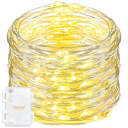 Silver Leaf Led String Light