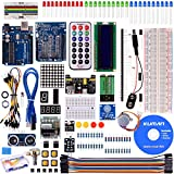 arduino motor shield kit - kuman for Arduino Project Complete Starter Kit with Detailed Tutorial and Reliable Components for UNO R3 Mega 2560 Robot Nano breadboard Kits