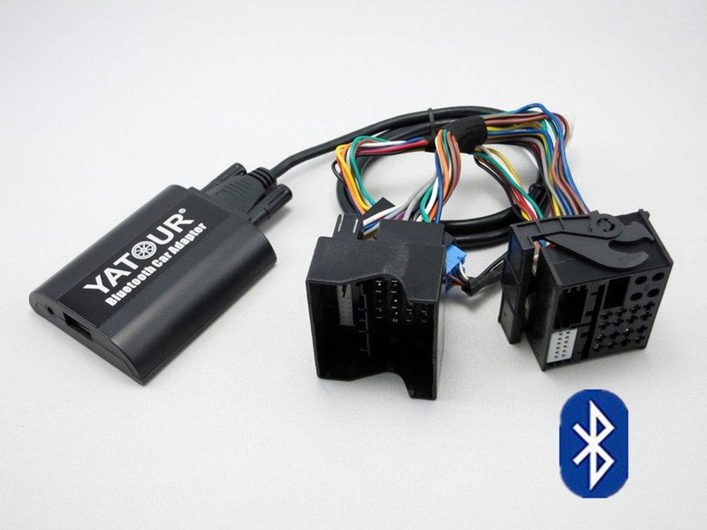 Renault Car Bluetooth Adapter, Digital Car Stereo Aux Adapter Hands Free Call With USB Charging & 3.5mm Audio Music Input For 12 pin Renault 1998-2011,Avantime, Kangoo, Master, Megane(BTA-REN12) Yatour
