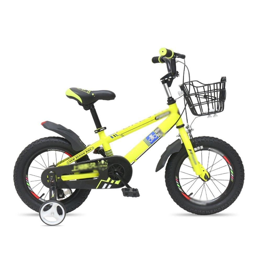 ベビーキャリッジバイク子供の自転車12 14 16インチの男性と女性の子供の自転車スポークホイール1つのホイール2-8歳の黄色 B07DVYHG3Q 16 inch|Spoke wheel Spoke wheel 16 inch