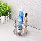 KES Multi Toothbrush Stand Holder Organizer SUS304 Stainless Steel, Brushed Finish