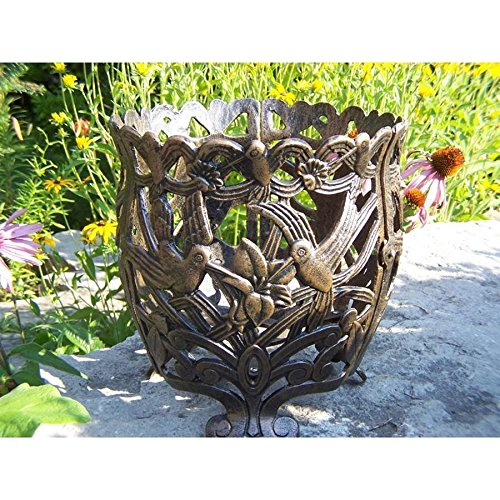 Oakland Living Hummingbird 12'' Round Flower Pot, Cast Aluminum, Bronze - 5118-AB supplier_id_shop_freely ,ket60131352064909 by itonotry