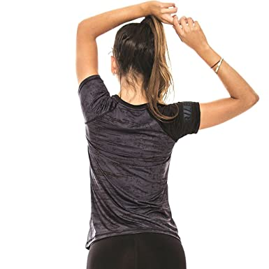 Babalu Fashion Gym Colored Shirts For Women Workout Fitness Tees Camisetas Deportivas Mujer Black One Size