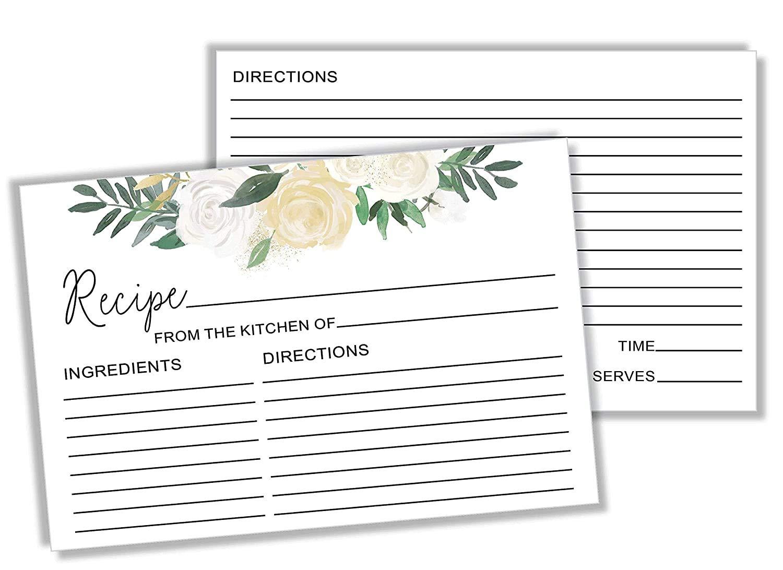 Recipe Card for Marriage Bridal Shower Recipe Gift Wedding Present for the Bride Custom Recipe Card Whip Stir Mix 4x6 Blank Recipe Card