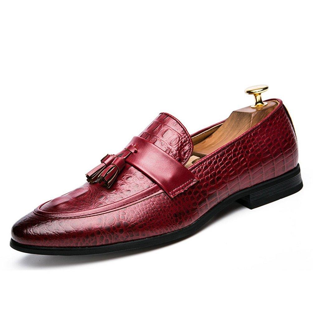 Hombres Borla Zapatos Cuero Formal Vestido de Oficina Calzado Elegante Oxford Zapatos para Hombres