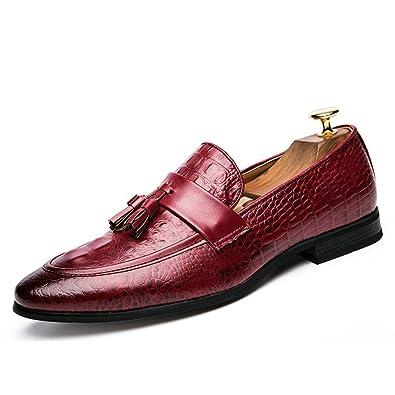 Männer Tassel Schuhe Leder Formale Kleidung Büro Schuhe Elegant Oxford  Schuhe für Männer  Amazon.de  Schuhe   Handtaschen d5d610e956