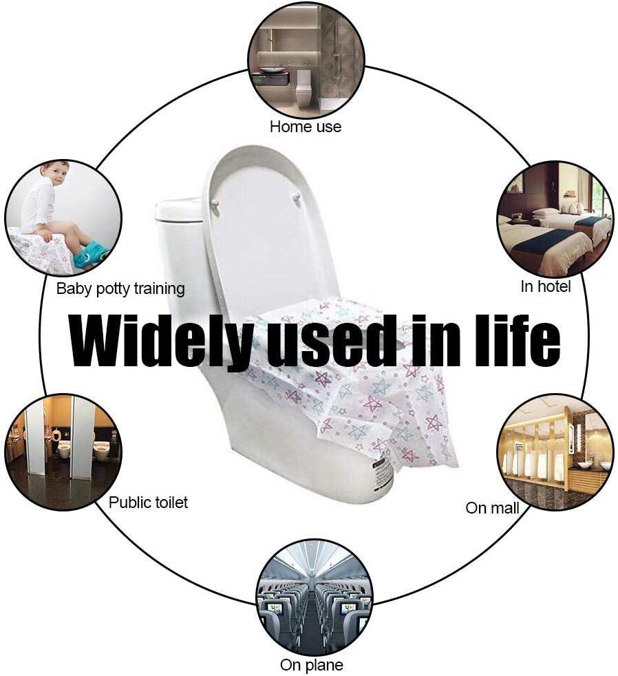 B/üro Restaurants Way Pictury Toilette Auflage Krankenhaus 20 St/ück Einweg Toiletten Sitzbezug /Übergro/ßer XL WC-Sitz Matte Toilettenpapierauflage f/ür Einkaufszentren