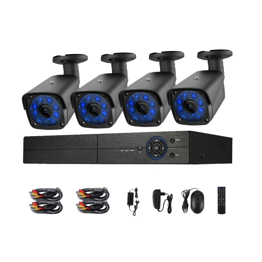 Baoblaze 高品質 4CH 1080N AHD DVR 4 720P 1.0MP カメラ ナイトビジョン ホーム セキュリティ ビデオ モニタ システム B0799LGT6M