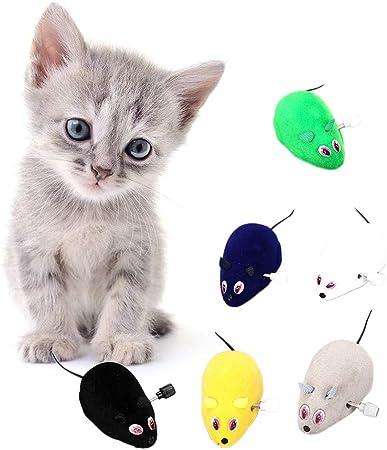 Lwl220 Ratones divertidos para gatos, ratones de juguete para gatos, ratones, juguetes interactivos de felpa: Amazon.es: Hogar