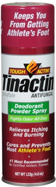 Tinactin Antifungal Deodorant Powder Spray 4.60 oz (Pack of 6) by Tinactin