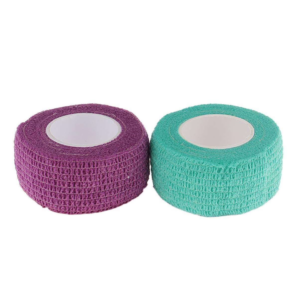 2 rollos vendajes autoadhesivos, cinta de cuidado de uñas, dedo ...
