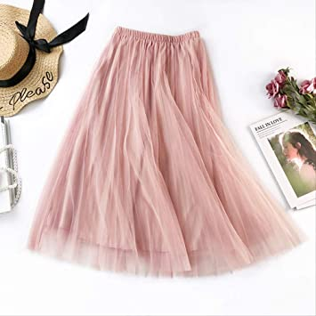 GDNTCJKY Faldas para Mujer Nueva Falda Plisada De Cintura Alta ...