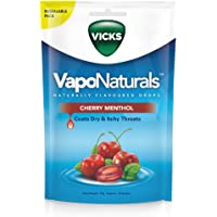 Vicks VapoNaturals Naturally Flavoured Cough Lozenges Cherry Menthol 19s Resealable Bag