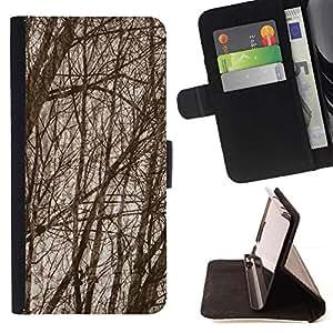 Momo Phone Case / Flip Funda de Cuero Case Cover - Ramas de árboles de bosque de otoño - LG Nexus 5 D820 D821
