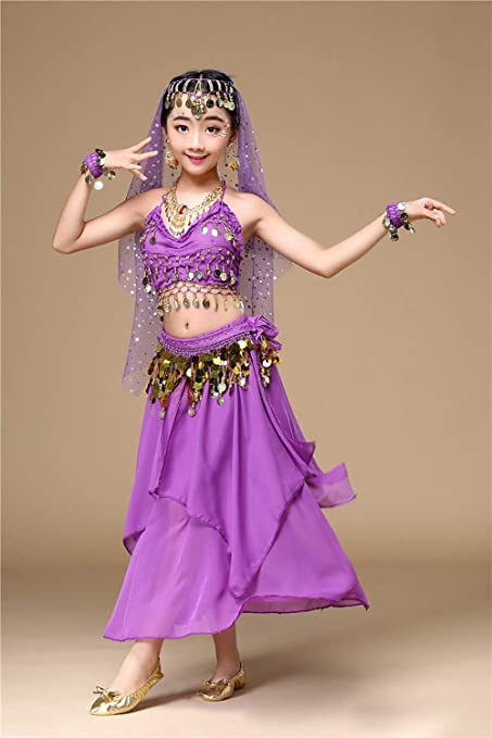 Amazon com: Costumes Set for Kids Belly Dancing Girl's Dance