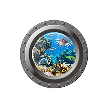 window world nh reviews axier 3d wall stickers submarine window underwater world home decor decors a amazoncom