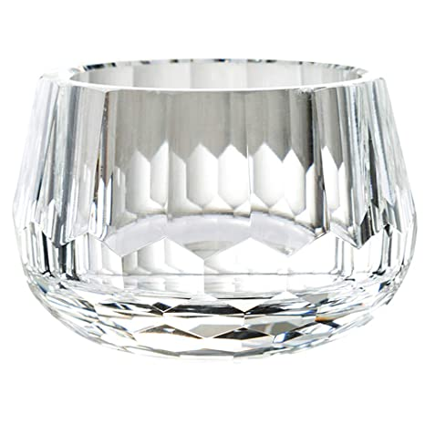 Amazon Com Donoucls Crystal Candy Dish Hand Cut Glass Bowl Clear
