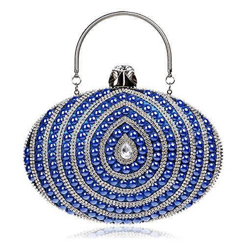 Orfila Evening Chain Handbag Dress Shoulder Bags Blue Clutch Pearl Wedding Party Women rCwtqYR8r