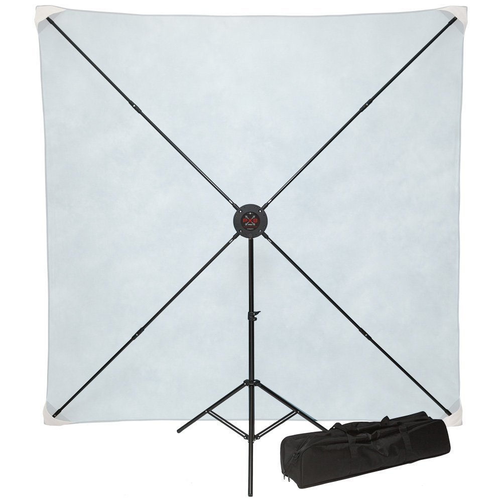Studio Assets 8 x 8' PXB Pro Portable X-Frame Background System without Muslin by Studio Assets