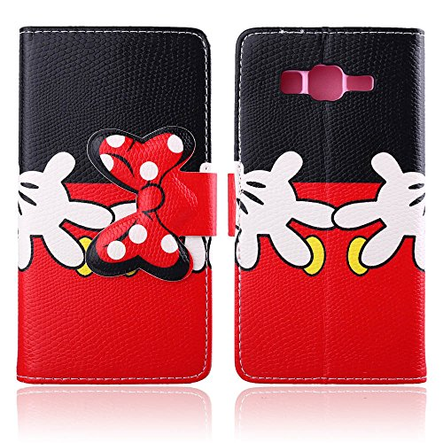"""For Galaxy Grand Prime G530H , ivencase Cute Bowknot Magnetic Wallet [PU Leather] Stand Flip [Flap Closure] Protective Case Cover For Samsung Galaxy Grand Prime SM-G530H + One """"ivencase """" Anti-dust Plug Stopper"""