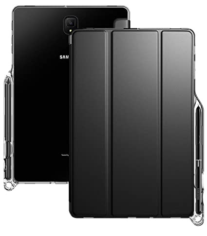 big sale 6f4a8 2b16f Galaxy Tab S4 10.5 Case, Poetic Smart Cover Case w/Flexible Soft Clear TPU  Back, Slim-Fit Trifold Stand Folio Front, Auto Wake/Sleep, Lumos X Series,  ...