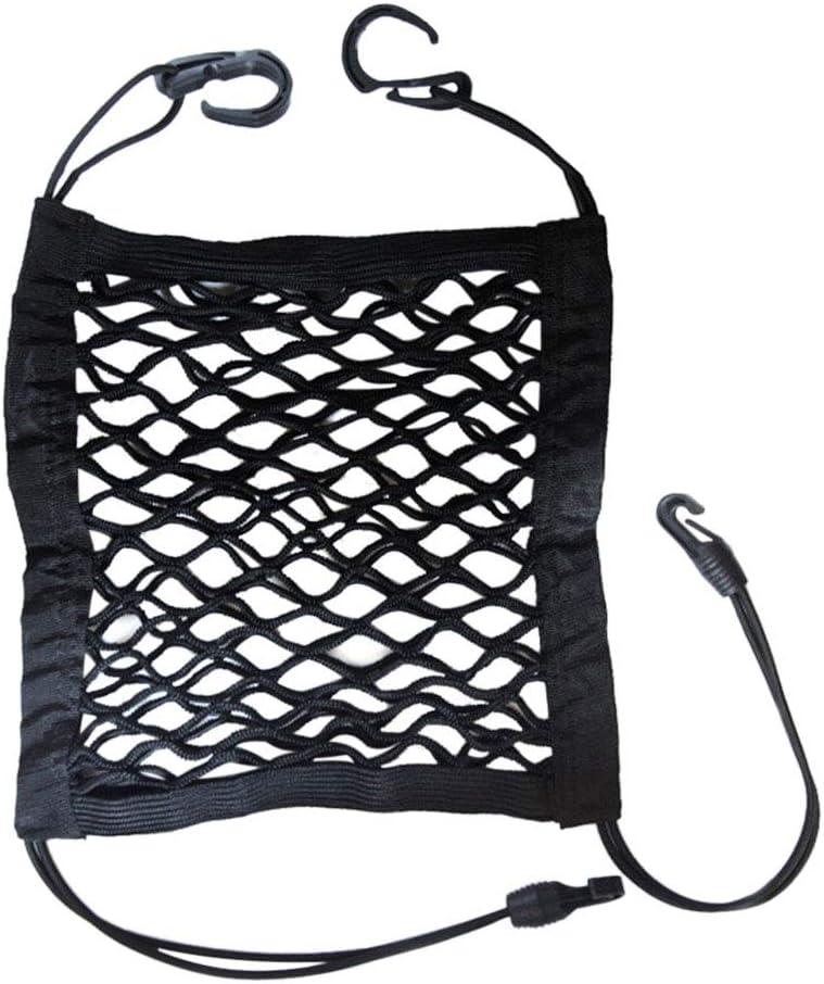 Bverionant Dog Barrier with Storage Net Car Seat Mesh Organizer Cargo Hook Pouch Holder
