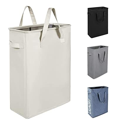 Amazoncom Wishpool 21 Slim Laundry Hamper Small Collapsible
