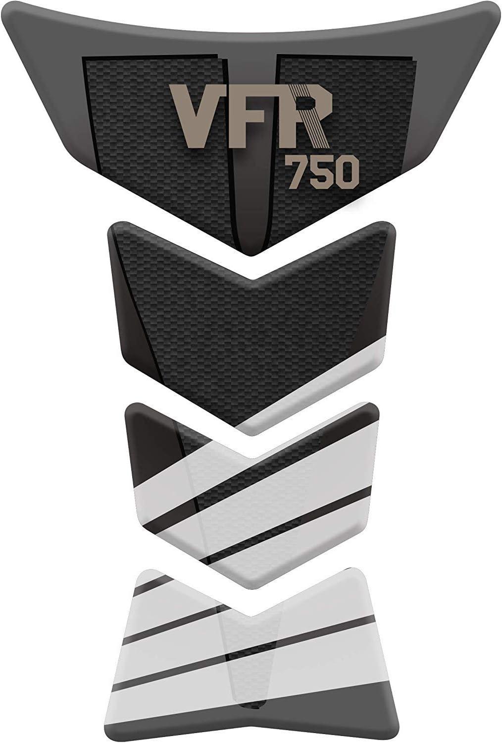 Schwarz//Wei/ß Tankpad Motorrad Draht Muster Tankschutz Polymer f/ür Honda Honda VFR 400 750 800 1200