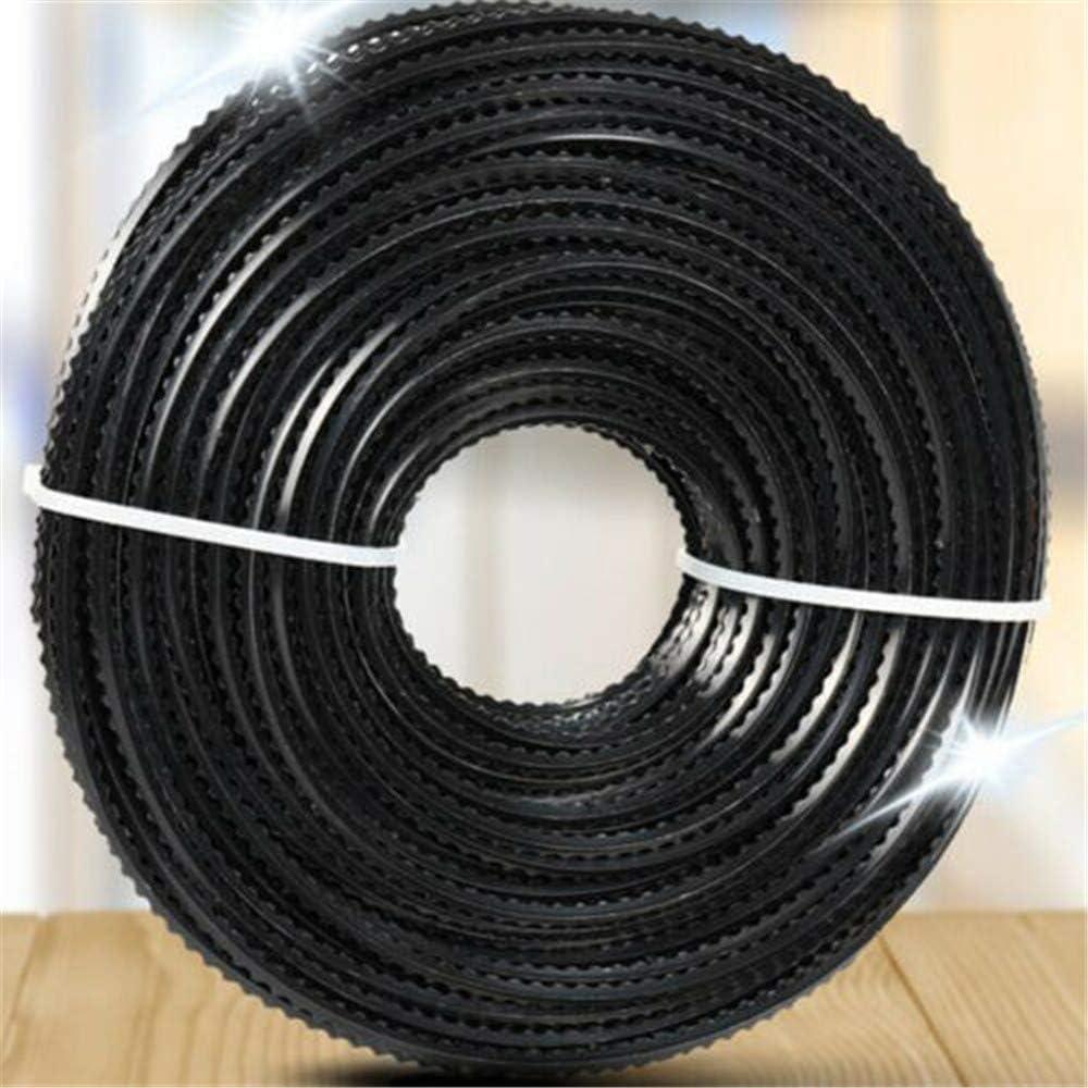 Negro Forma de Diente de Sierra 50 M Para Hierba Y Malezas Sobre Crecidas Cable de Cortador de Cepillo de L/ínea de Nylon Universal de 3 Mm