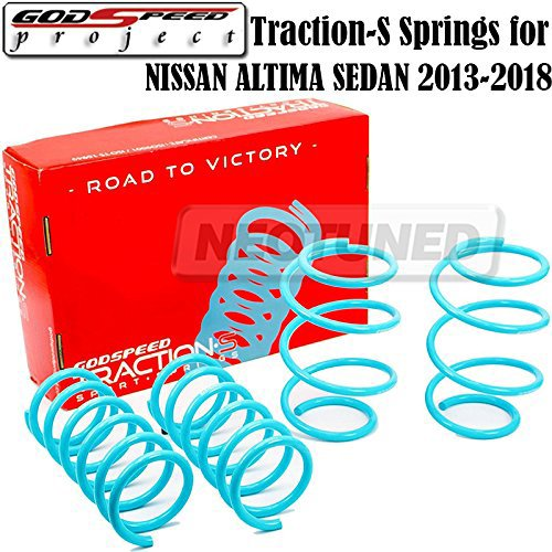 - Godspeed(LS-TS-NN-0018) Traction-S Performance Lowering Springs For Nissan Altima Sedan 2013-15 gsp set kit