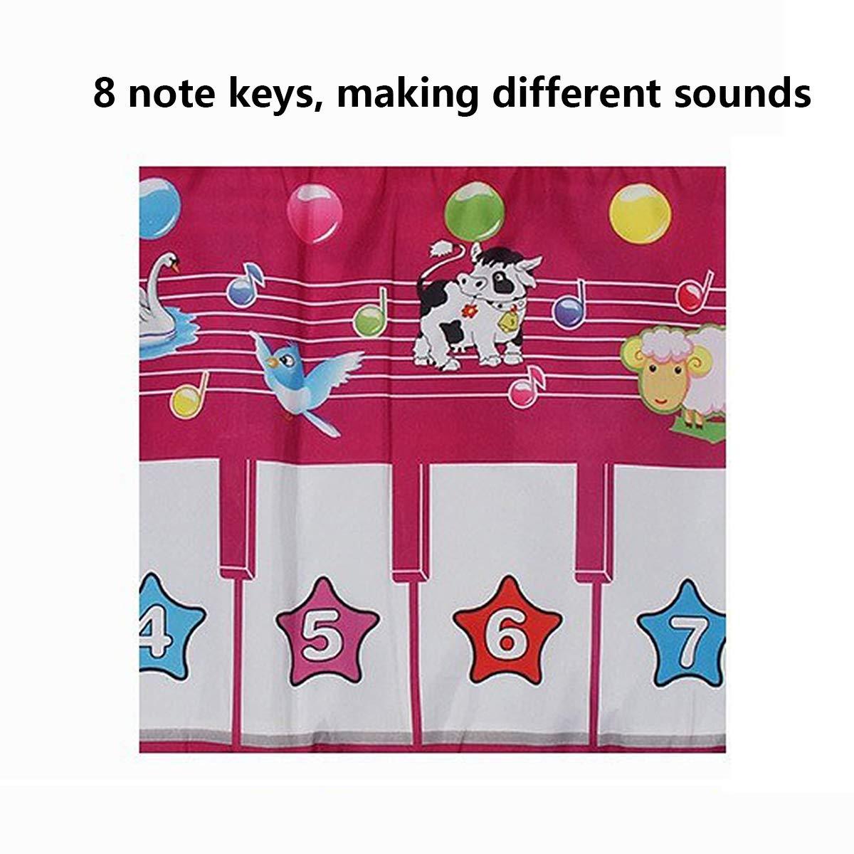 Children's Electronic Piano Mat, Electronic Music Playmat Piano Mat Cartoon Animal Fun Crawling Blanket by Eustoma (Image #6)
