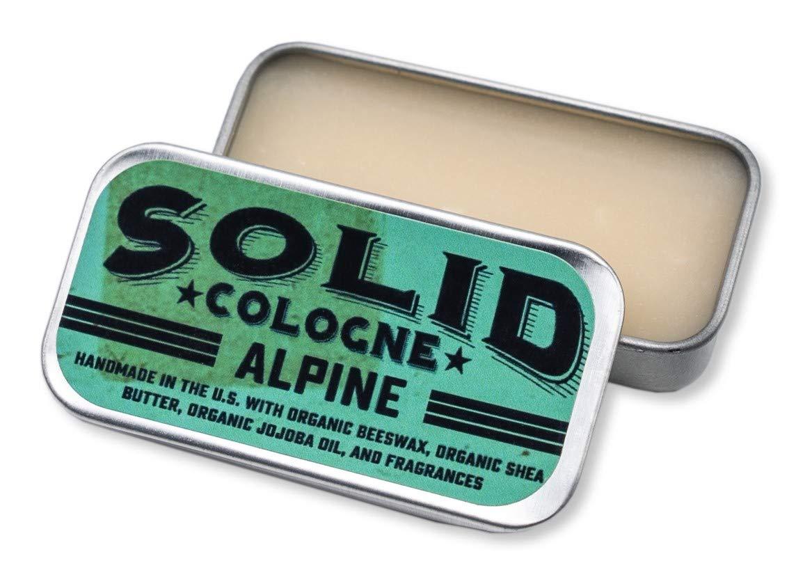 """SOLID Cologne -""""Alpine"""" Scent - Men's""""Pocket-Size"""" Fragrance. - .25 oz Tin"""