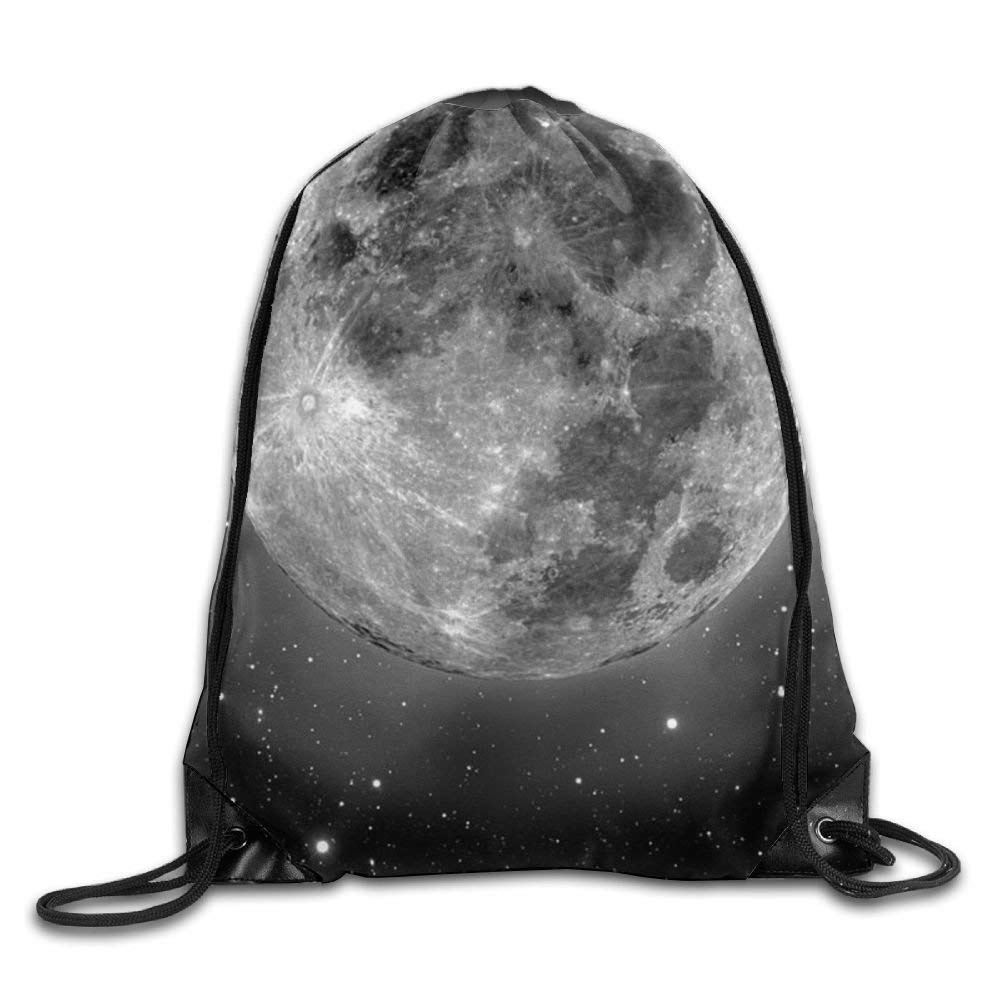 HIDFAA Bolso de Lazo Moon Drawstring Backpack Rucksack Shoulder Bags Training Gym Sack For Man and Women