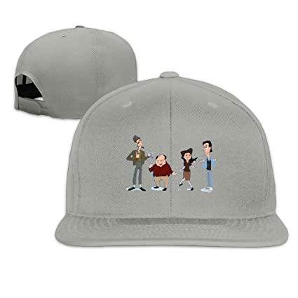 eaee68a5cb2 Nquqiyilu Mens Seinfeld Cast Funny Travel Ash Hats Adjustable Snapback