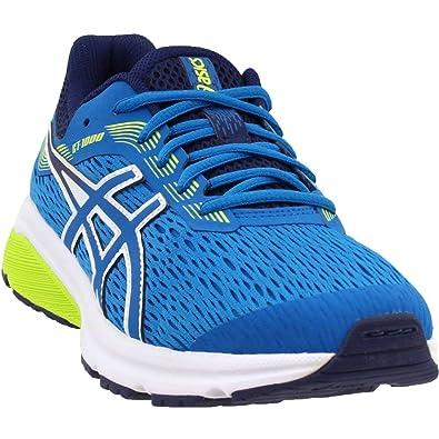 2a60748048 Asics 1014A005 Kid's GT-1000 7 GS Running Shoe, Race Blue/Neon Lime ...