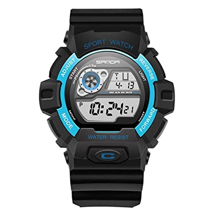 JBP Max Mens Deportes Impermeable Reloj Multi-Función Reloj Digital Multifuncional Luminoso Impermeable Al Aire