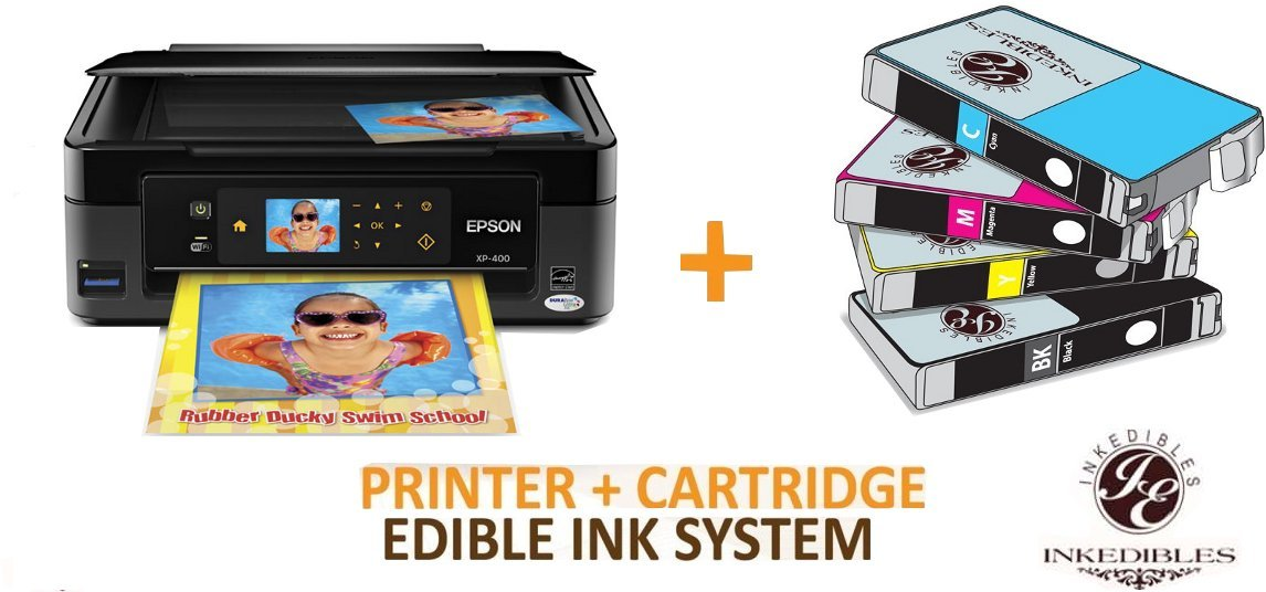 YummyInks Brand YummyInks Brand Epson XP400 / XP410 Bundled Printing System - includes brand new printer with complete set of edible ink cartridges