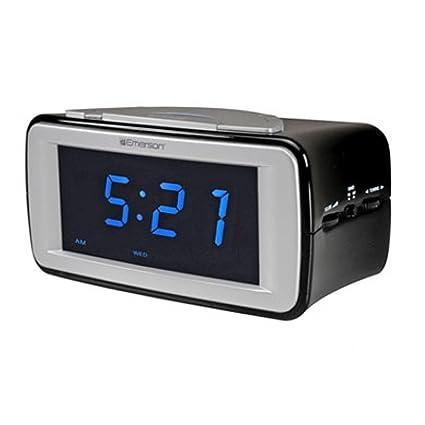 Emerson - Radio (Reloj, AM,FM, Azul, Negro, Plata,