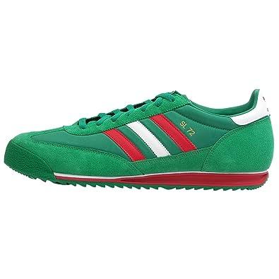 ADIDAS ORIGINALS SL 72 Art Multi Color Nylon Suede Retro Sneakers Men Size 12