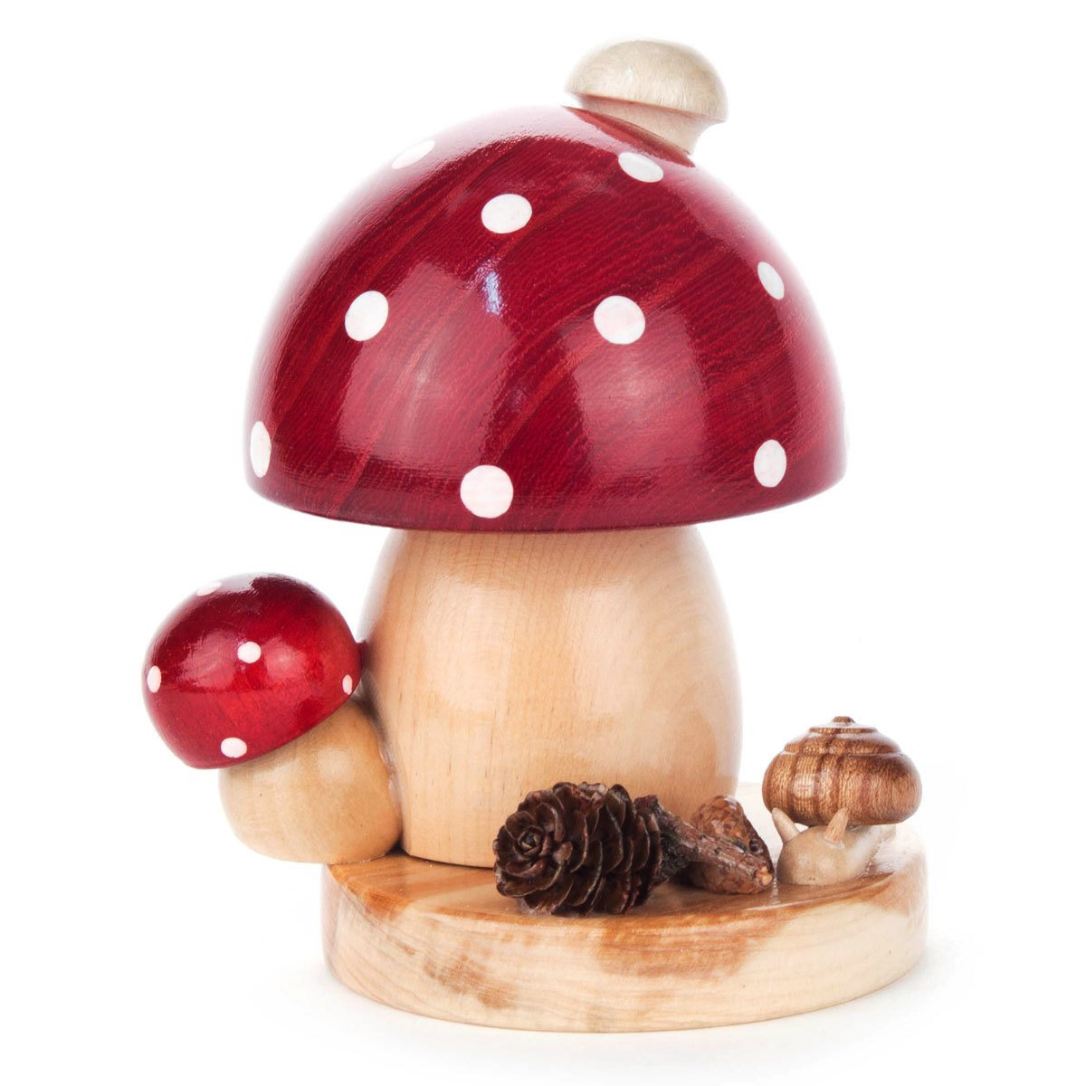 Dregano Small Forest Dotted Red Mushroom German Smoker - 4.25 Inches Tall - Made in Germany