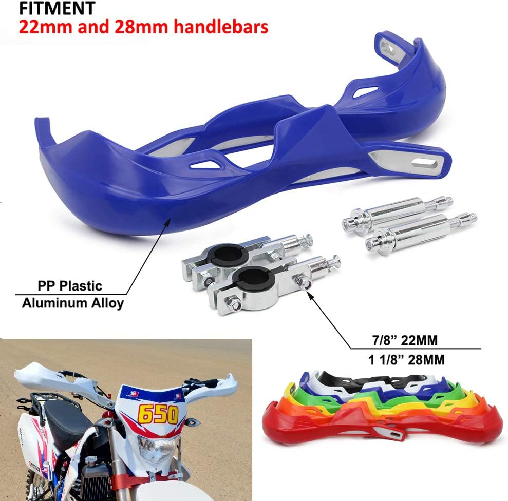 Triclicks Prot/èges Mains 22//28mm Moto Universel Handguards Protecteur Carbone