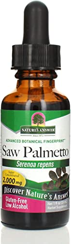 Nature s Answer Saw Palmetto Extract Promotes Prostate Health Non-GMO Gluten-Free, Vegan, Kosher Certified No Preservatives 1oz