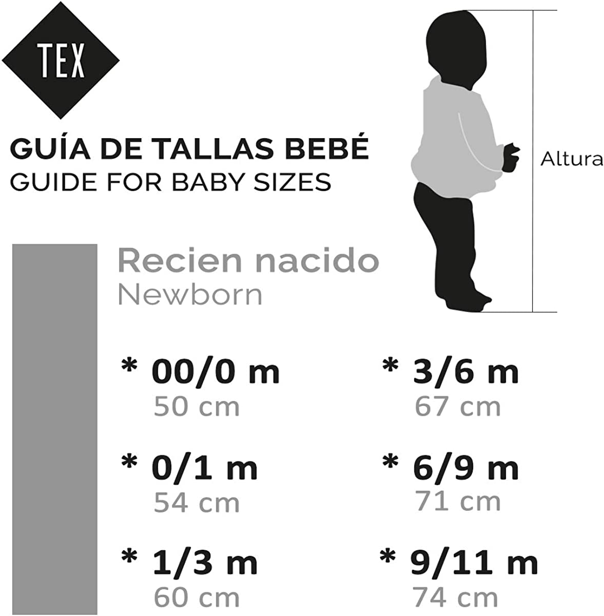 Vestido Sin Manga para Reci/én Nacido Tex