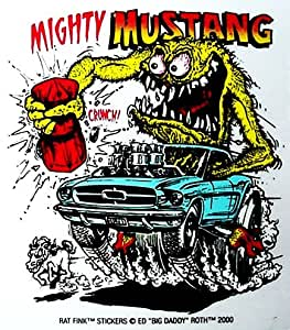 Amazon Com Rat Fink Mighty Mustang Decal Automotive